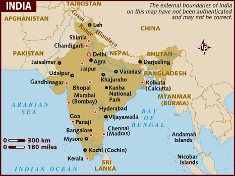 Map of India Hd