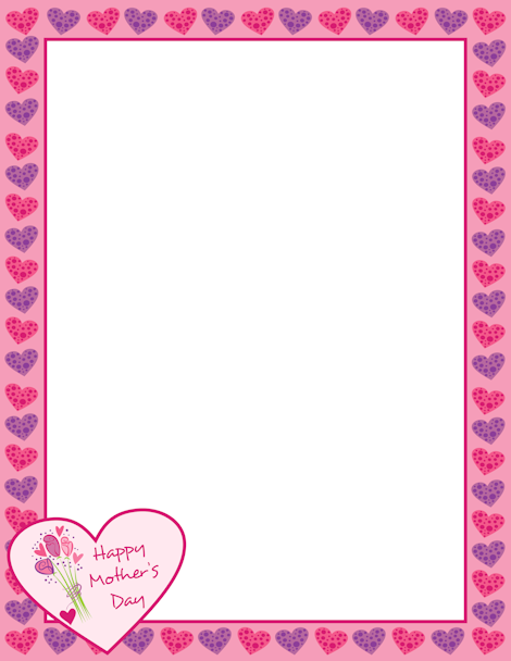 Mothers Day Borders Free