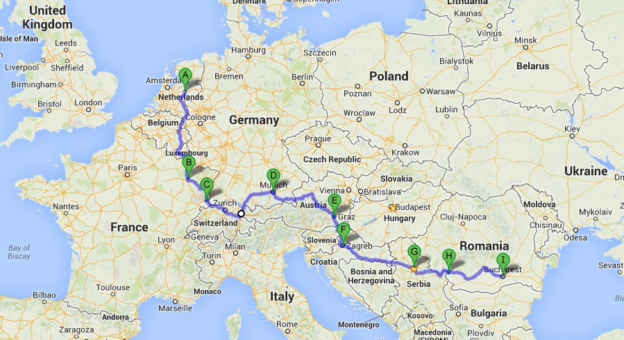 Save Europe Road Map Route Planner