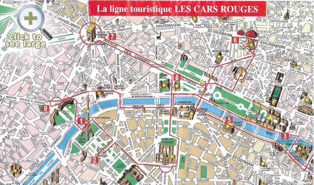 Save Paris City Map With Attractions