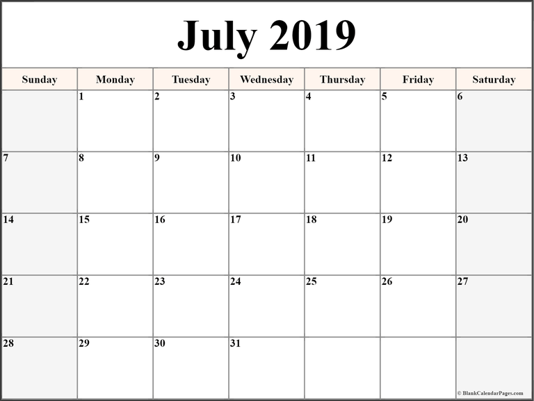 June 2019 Printable Calendar Pdf Free Monthly Template