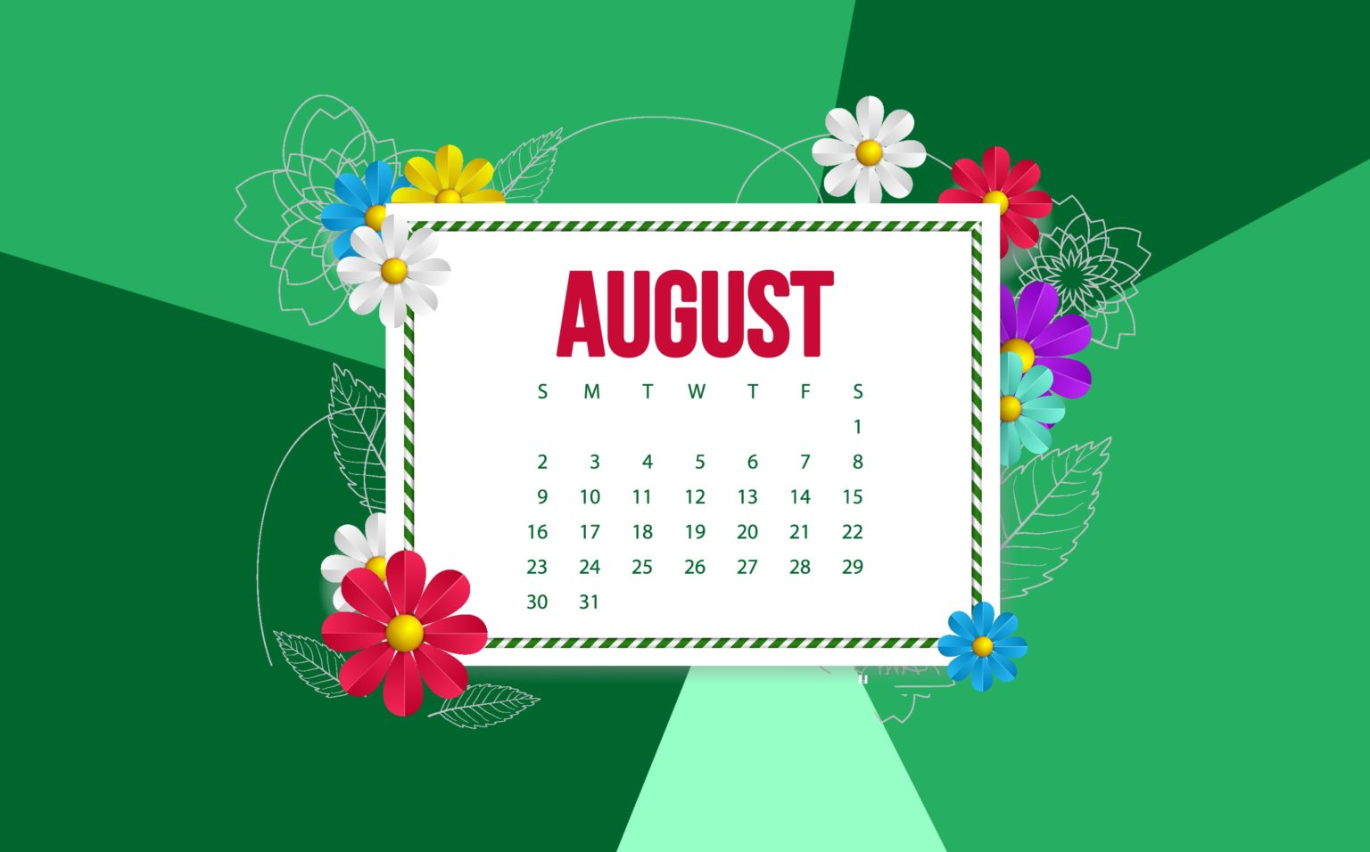August 2020 Background Wallpaper