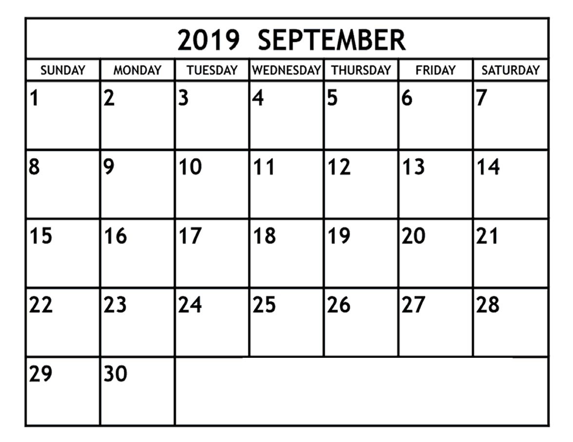 editable september 2019 calendar  u2013 pdf  word  excel