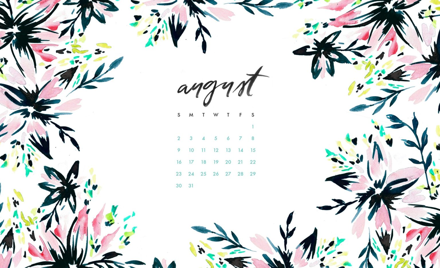 Floral August 2020 Desktop Wallpaper