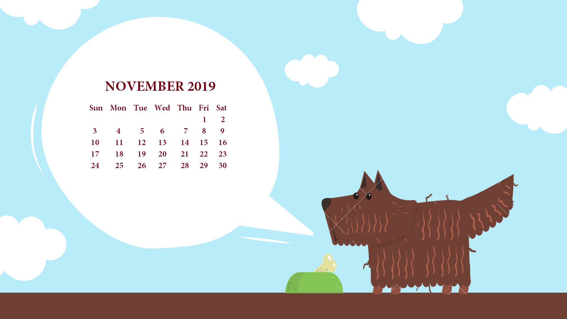 November 2019 Calendar HD Wallpaper