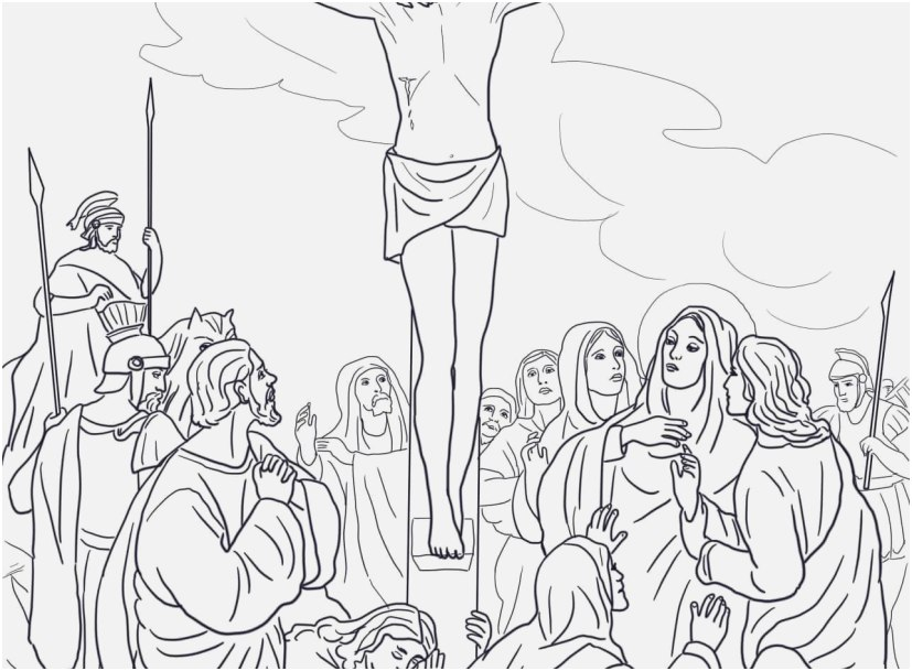 Crucifixion Good Friday Coloring Pages Images