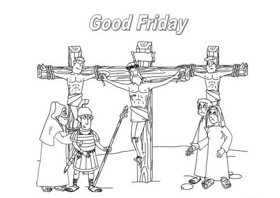 Good Friday Coloring Pages for Kids