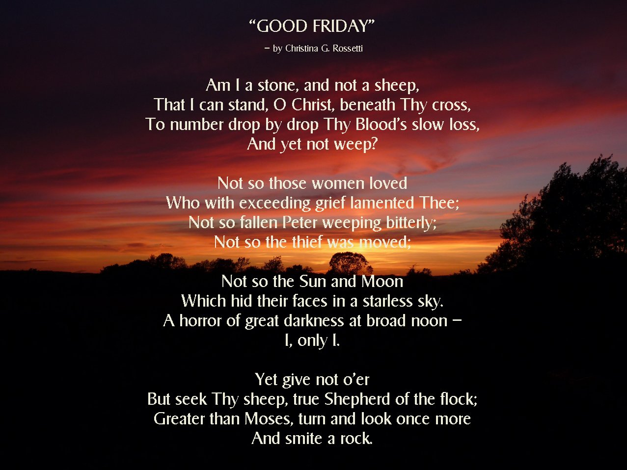 Good Friday Poems For Youth