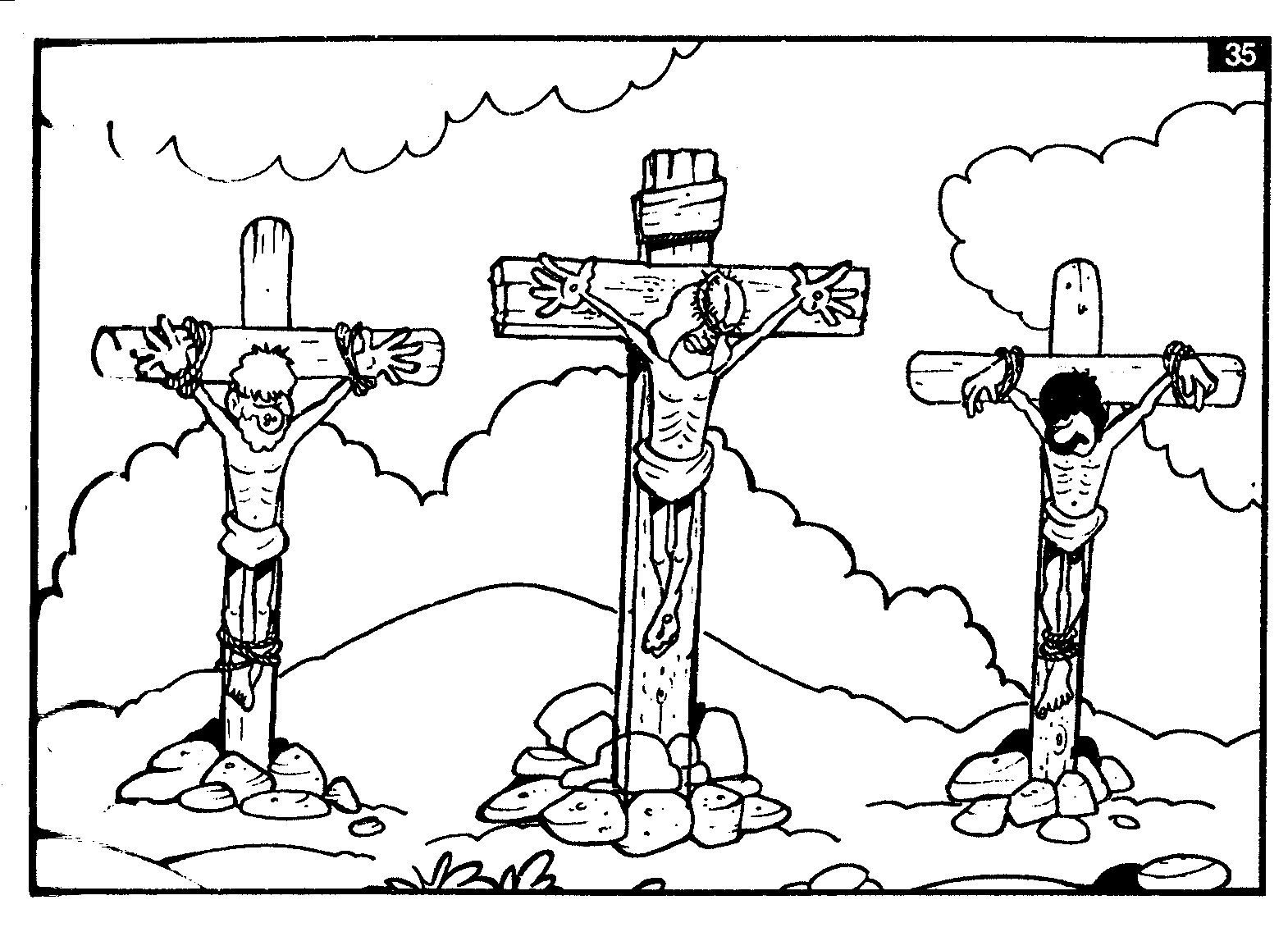 Religious Good Friday Coloring Pages