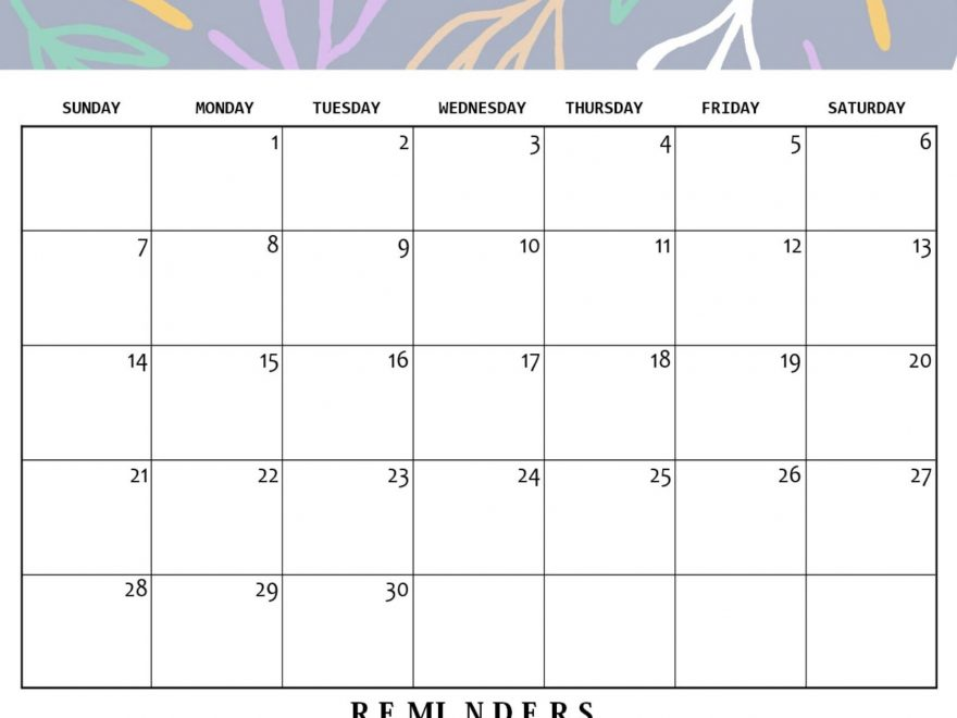 Free Printable June 2020 Calendar With Notes
