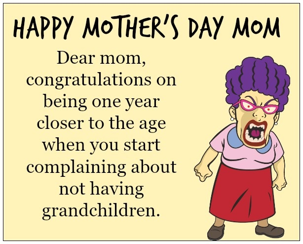 Mothers Day Funny Quotes with Cartoon