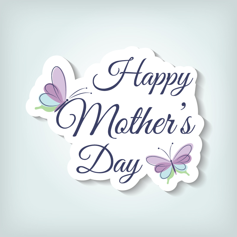 Mothers Day Vector Butterfly Stickers