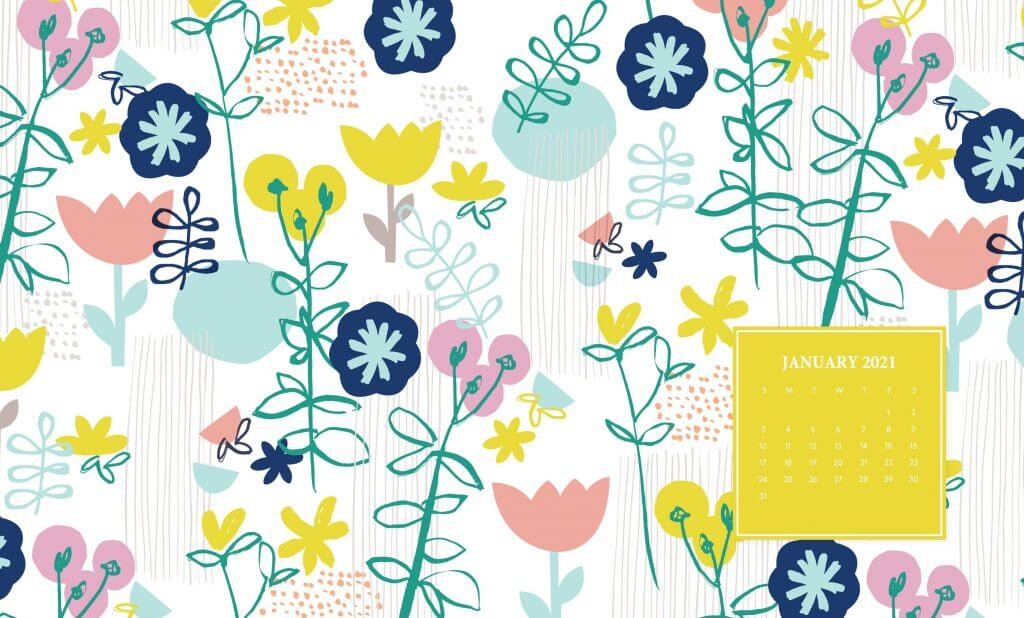 January 2021 Floral Wallpaper