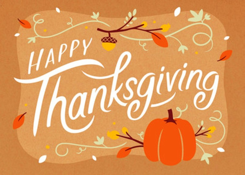 Happy Thanksgiving Greetings Cards