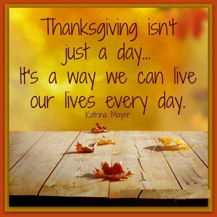 Thanksgiving Day Positive Quotes Clipart