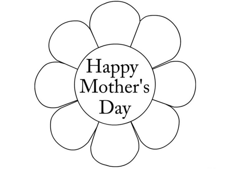 Mothers Day Clipart to Color