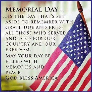 Honoring Memorial Day Images